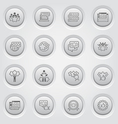 Simple set of testimonials icons vector