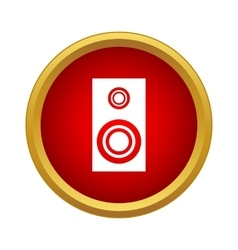 Sound speaker icon in simple style vector image