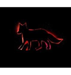Space fox vector image