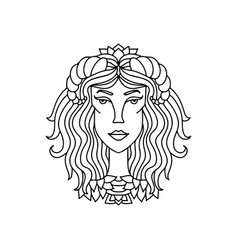 taurus girl portrait zodiac sign for adult vector image