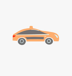 traditional orange taxi in seoul south korea vector image