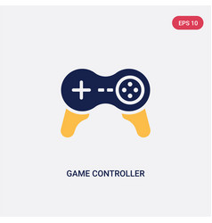 two color game controller cross icon from vector image
