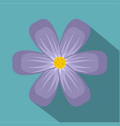 Violet flower icon flat style vector
