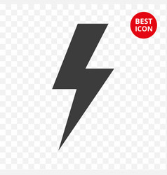 warning icon lightning caution isolated vector image