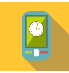 Watch on mobile phone icon flat style vector