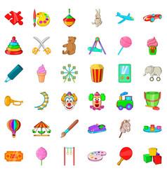 Whirligig icons set cartoon style vector