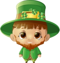 beautiful leprechaun on white background vector image