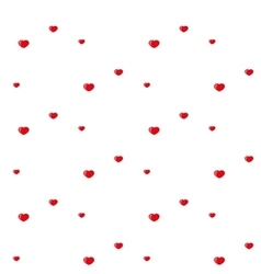 Hearts pattern Red vector image