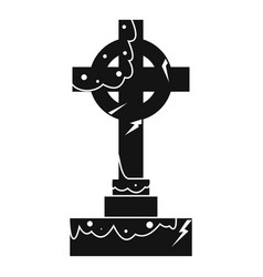 irish celtic cross icon simple style vector image