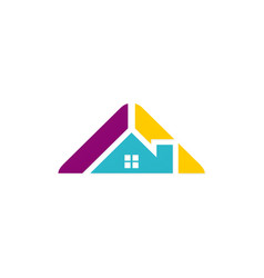 roof house architecture colored logo vector image