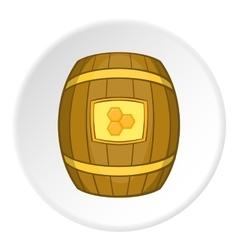 Barrel with honey icon cartoon style vector image vector image