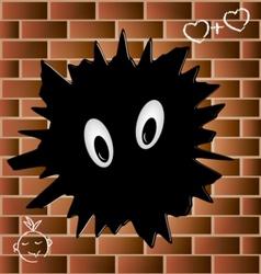 blob on a brick wall vector image