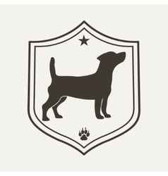 Dog pet logo vector image