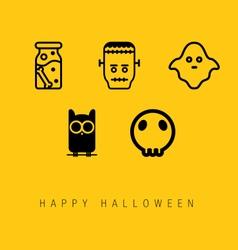 Happy Halloween Icon Set vector image