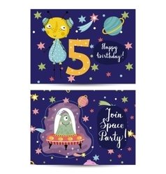 Invitation on Children Costumed Birthday Party vector image vector image