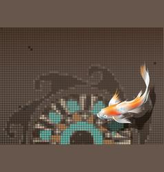 koi carp in pool vector image vector image