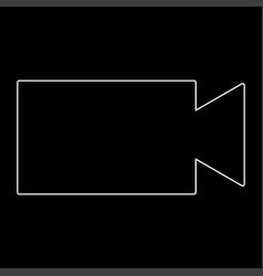 Video camera the white path icon vector