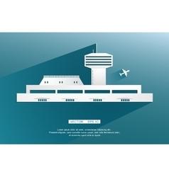 Airport terminal landscape air crafts vector