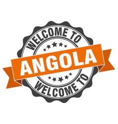 angola round ribbon seal vector image vector image