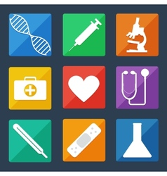 Medical Icons Flat UI vector image vector image