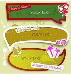 merry christmas speech bubbles vector image