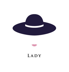 portrait of a lady in a beautiful hat vector image vector image