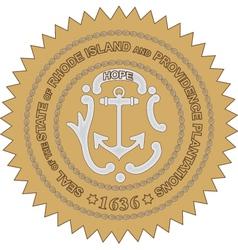 Rhode Island Seal vector image