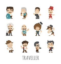Traveler people eps10 format vector image vector image