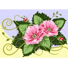 victorian rose bouquet vector image vector image