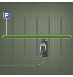 City parking image vector image vector image