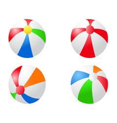 color beach balls icon vector image vector image