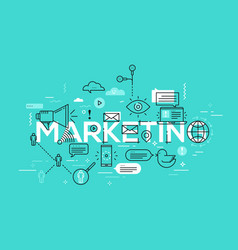 creative of marketing word vector image