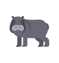 Flat style of hippo vector