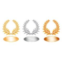 Laurel awards vector image
