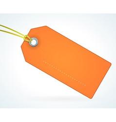 Orange Paper Label vector image