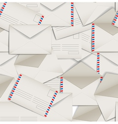 Seamless background of envelopes vector image