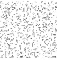 seamless pattern from set of musical notes and vector image vector image