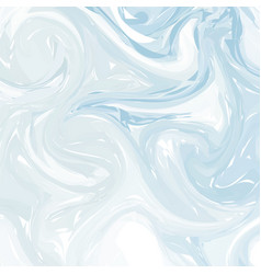 Abstract ink background marble style blue white vector
