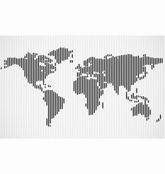 Abstract world map with lines vector