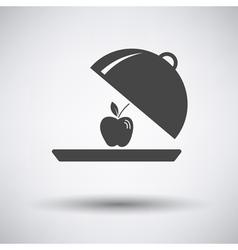 Apple inside cloche icon vector image