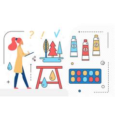 art studio agency workspace concept and artist vector image