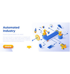 automated industry - banner layout template for vector image