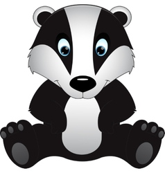 Badger isolated on white background vector
