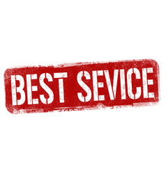 best service sign or stamp vector image