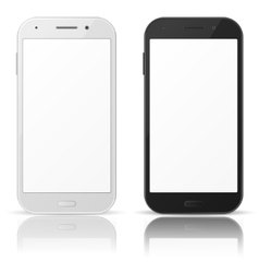 Black and white mobile phones vector image