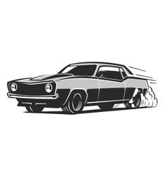 Black muscle car vector