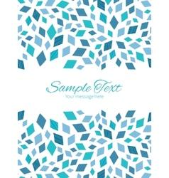 Blue mosaic texture vertical double borders vector