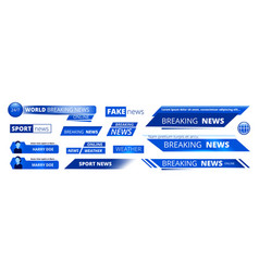 breaking news broadcasting banners tv sport vector image