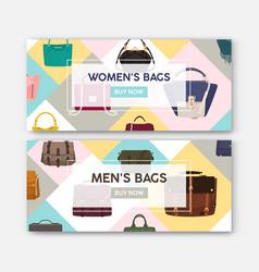 bundle horizontal web banner templates with men vector image