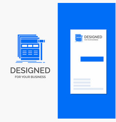 Business logo for internet page web webpage vector